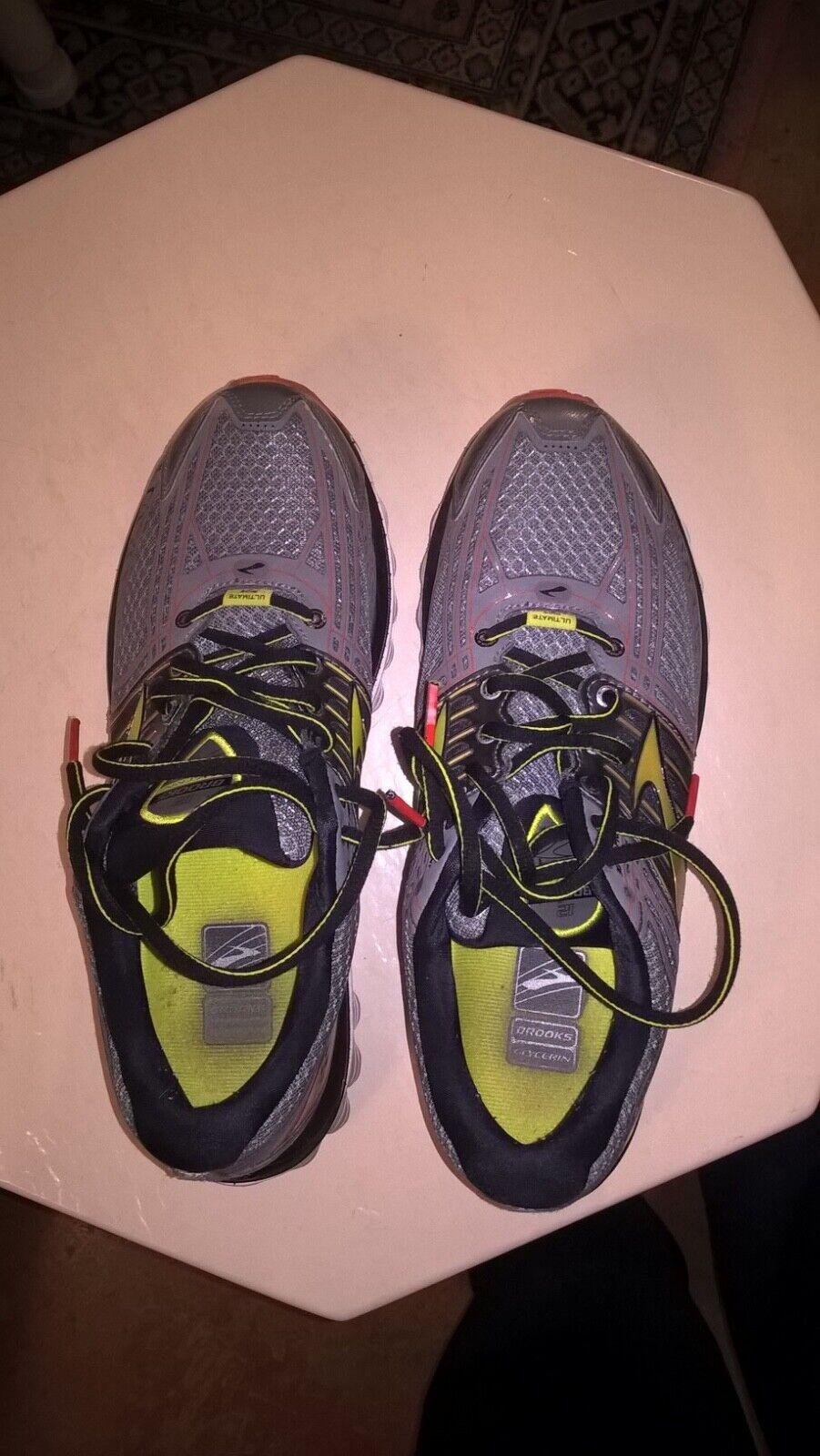 813c950e119 Men's Dark Grey yellow stripes Brooks Glycerine 12, size 9.5, in mint  condition