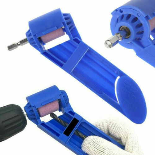 Portable Drill Bit Sharpener Corundum Grinding Wheel Kit For Grinder Polish B7X0