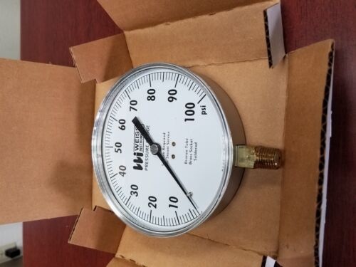WEISS 4CTS PRES GAUGE 0-100 PSI  4 1//2 DIA