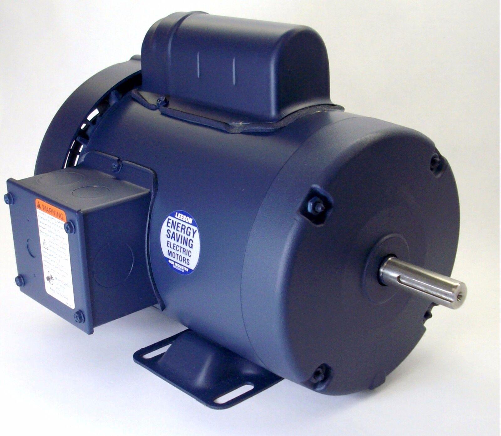 Leeson Electric Motor 110059.00 1 HP 3450 Rpm 1-PH 115//208-230 Volt 56 Frame