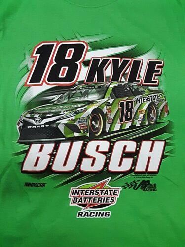 2X Kyle Busch  #18 Interstate Batteries Green Nascar T-shirt