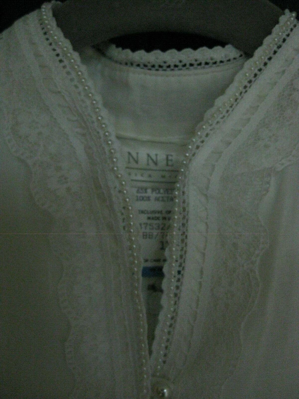 Gunne Sax White Dress Girls Size 12 Pre-Owned - image 2