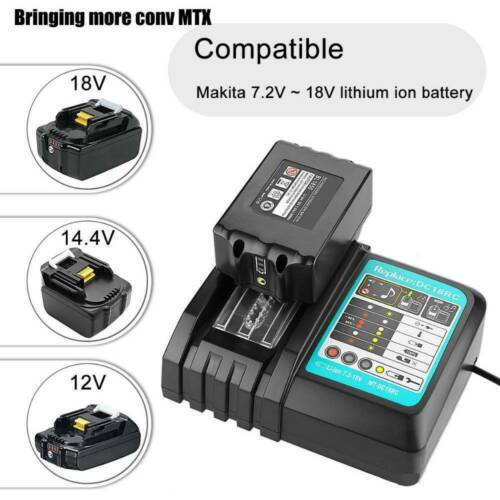 BL1850B for Makita 18V 5.0Ah Lithium Battery or DC18RC Charger BL1830 BL1860 LXT
