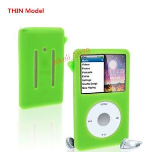 Thin Green New Silicone Skin Cover Case For Ipod Classic 7th Gen 160gb 6th 120gb Ebay
