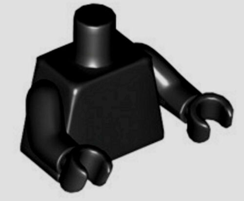 Lego Minifig Black Torso x 1 with Black Hands /& Arms