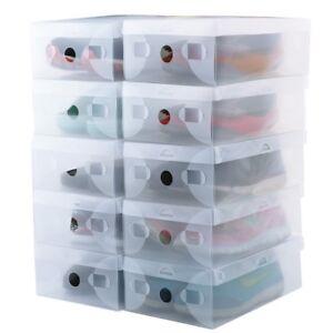 Image Is Loading Shoe Storage Box Set Of 10 Sneaker Organizer