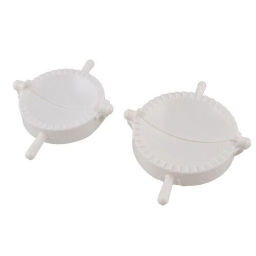 2 pieces blanc en plastique pour viande Tarte ravioli Pate Moule a raviolis H1E8