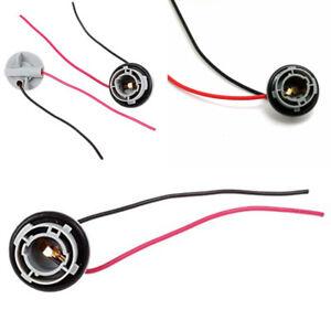 2 Pcs 1156 Ba15s Led Bulb Socket Car Turn Signal Light Harness Wire Electrical Sockets & Plugs Adaptors