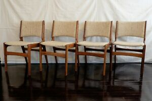 Amazing Details About Set Of 4 Vintage Danish Mid Century Modern Erik Buch Dining Chairs Ocoug Best Dining Table And Chair Ideas Images Ocougorg