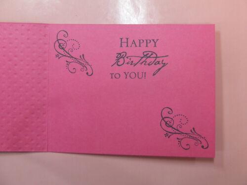 Handmade BIRTHDAY Card  Using STAMPIN UP Bling Sizzix EMBOSSED