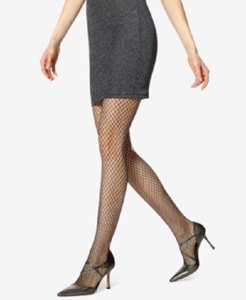 ca5963d804af6 HUE Metallic Fishnet Net Tights Black With Silver Size S/m - for sale  online | eBay