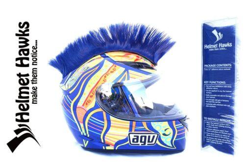Helmet Hawks ™ Mohawk Deep Ocean Blue Motorcycle Bike BMX Helmet Mohawks