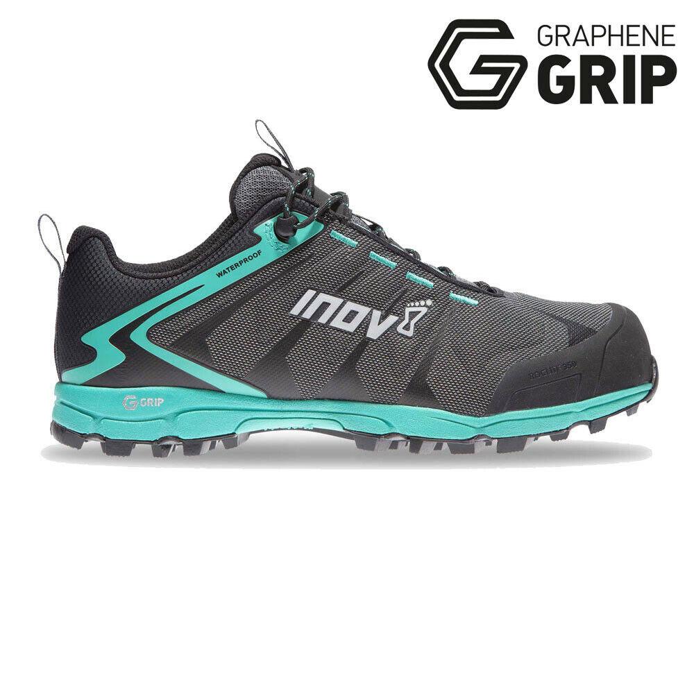 Inov8 vrouwnens Roclite 350 Trail hardlopen schoenen Trainers sportschoenen --zwart groen