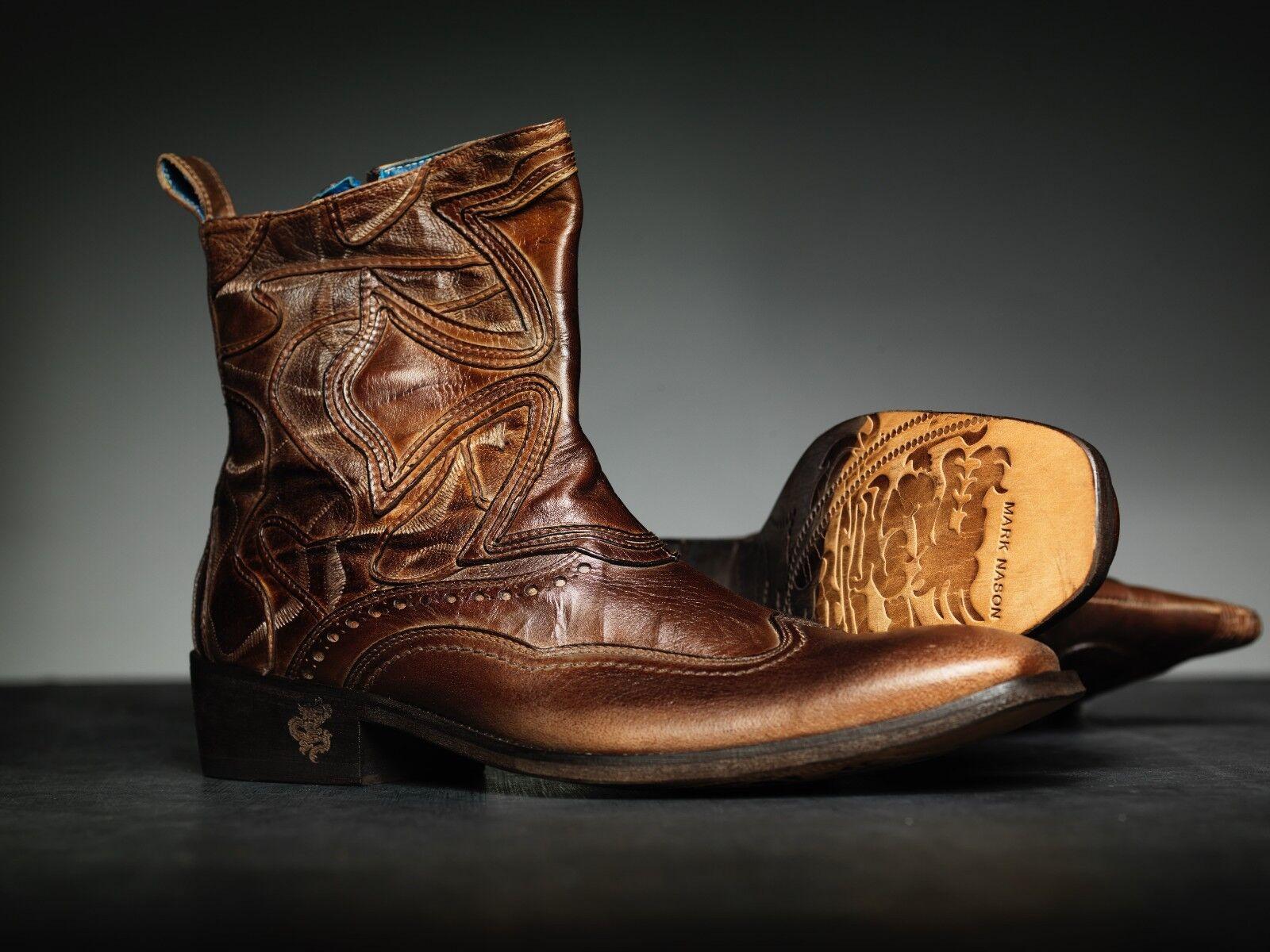 nuevo  Mark Nason amberoom Dragón Rock botas US 9 envejecido marrón ()
