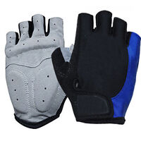 Cycling Bicycle Motorcycle Anti-skid GEL Silicone Half Finger Short Gloves M-XL