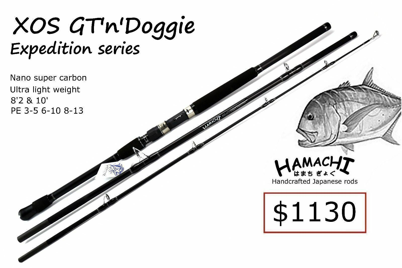 2018 HAMACHI 10' XOS GT'n'Doggie GT'n'Doggie GT'n'Doggie Exp 30 - 50lb Japanese spin popper fishing rod d48bf6