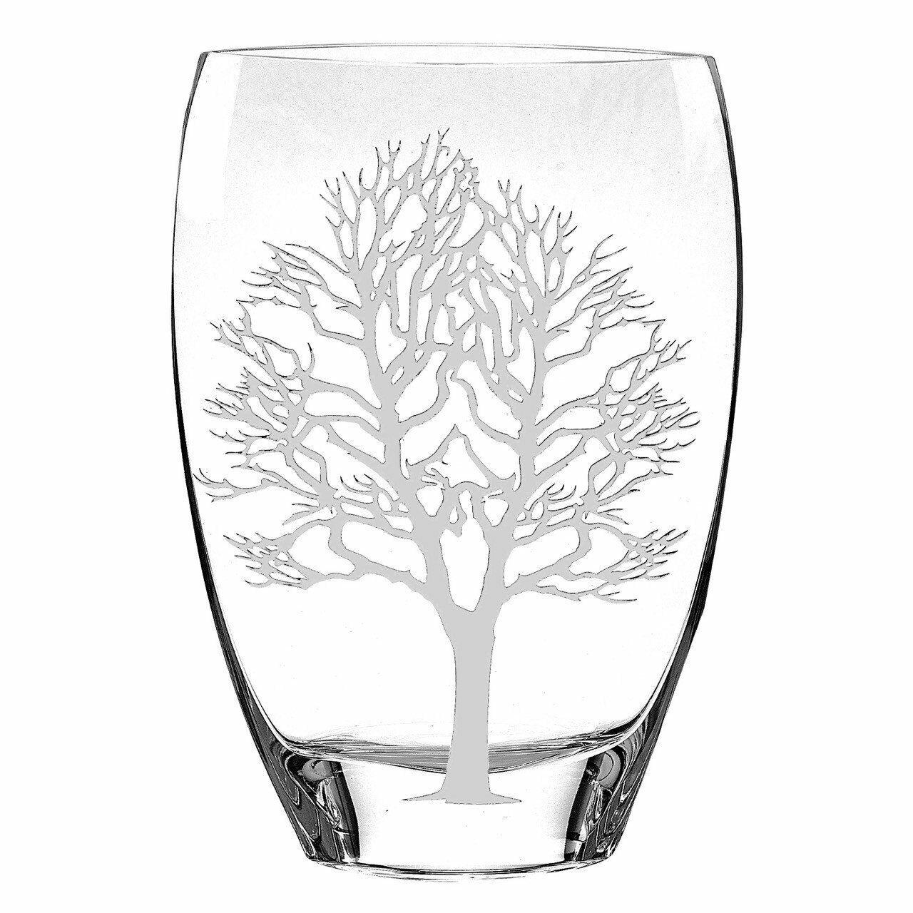 (D) fabriqués à la main  argent arbre de Life  Décoration Verre Cristal Vase 8