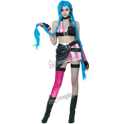Anime New League of Legends Loose Cannon Jinx Cosplay Halloween Costume Outfit  sc 1 st  eBay & Jinx-league of legends collection on eBay!