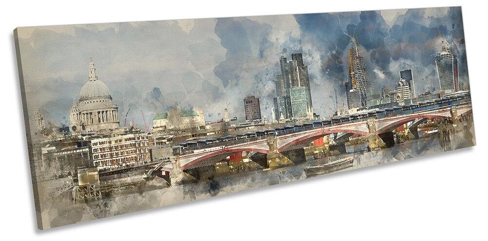 City of London Skyline PANORAMA CANVAS WALL ARTWORK Print Art