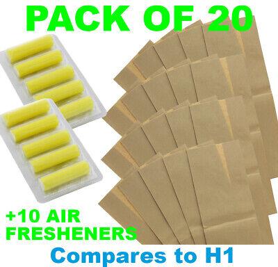 1500 Compact//SL #652 10 Sacchetto per aspirapolvere adatto per Hanseatic 1400 Compact