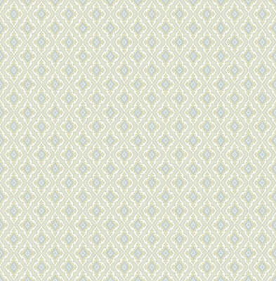Designtapete flieder jeansblau Ornamente edel Luxus Tapete glitzernd
