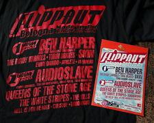 FLIPPAUT t-shirt  size M RED 2003 Harper QOTSA The White Stripes AUDIOSLAVE SKIN