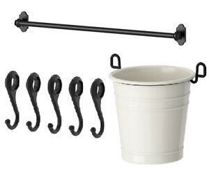 Image Is Loading IKEA Steel Rail 31 034 5 Hook Cutlery