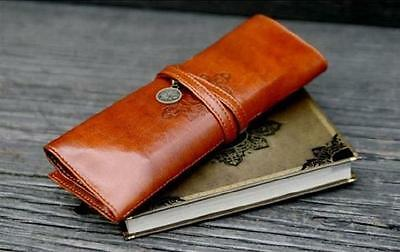 Tool Pencil Pen Case Senior Grade Make-up Storage Bag Purse PU Leather Clutch