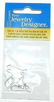 M785d Coil & Ball 1 Fishhook Wire Nickle Free Silver Earring Component 6/pkg