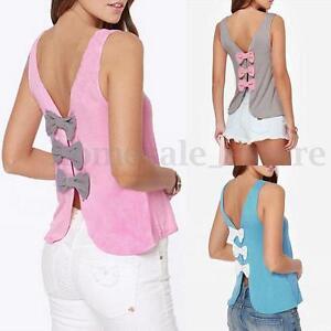 70abf278 Image is loading Zanzea-Womens-Vest-Top-Sleeveless-Blouse-Casual-Backless-