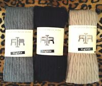 RIVER ISLAND LACE OR COTTON CABLE TIGHTS: PINK RED BLUE BLACK GREY TAN BEIGE S-L