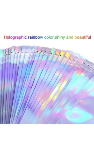 100 Pcs Smell Proof Rainbow Mylar Bags Aluminum Resealable Zip Lock 4X6