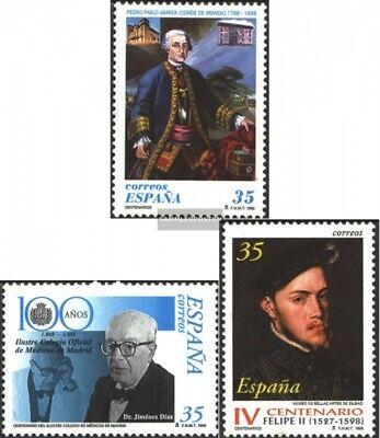 kompl.ausg. ZuverläSsig Spanien 3378,3384,3387 Postfrisch 1998 Sondermarken Schmerzen Haben