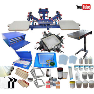 c82e53eba Image is loading Screen-Printing-Kit-Equipment-4-Color-Screen-Printing-