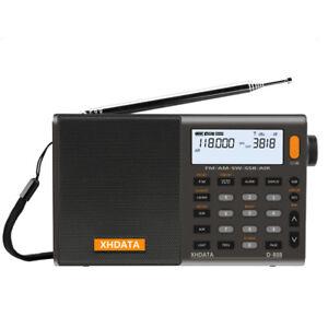 XHDATA D-808 Portable Radio numérique FM Stéréo/SW/MW/LW Bande Latérale Unique RDS LCD Air Band