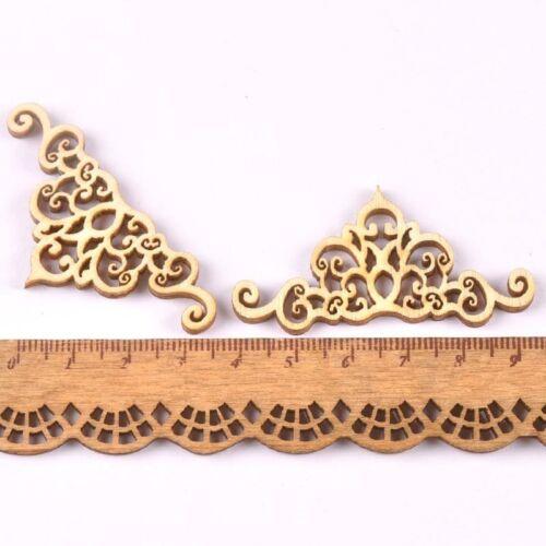2018 new 20pcs Flower Lace pattern wood Crafts book Corner handmade