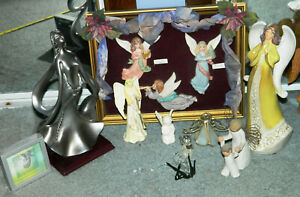 LARGE VINTAGE LOT OF ANGEL FIGURINES With ART DECO / Goebel / Willow Tree