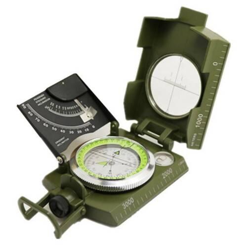 Professional Military Pocket Metal Sighting Compass Clinometer Hiking Camping de