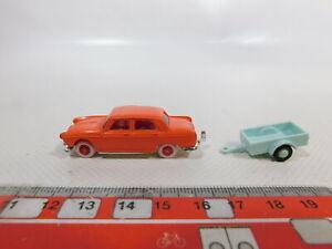 Ca602 0 5 Norev 1 86 Modele De Voiture Peugeot 404 Avec Remorque Mint Ebay