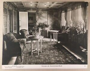 Hamburg-America-Line-Porch-Emperor-Room-Photo-Vintage-1913-19-2-x-24-6-cm