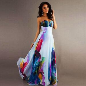 Women-039-s-BOHO-Long-Maxi-Evening-Cocktail-Party-Beach-Dress-Floral-Sundress
