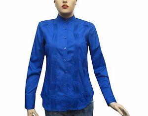 Slim-fit-Damen-Bluse-Gr-L-saxblau