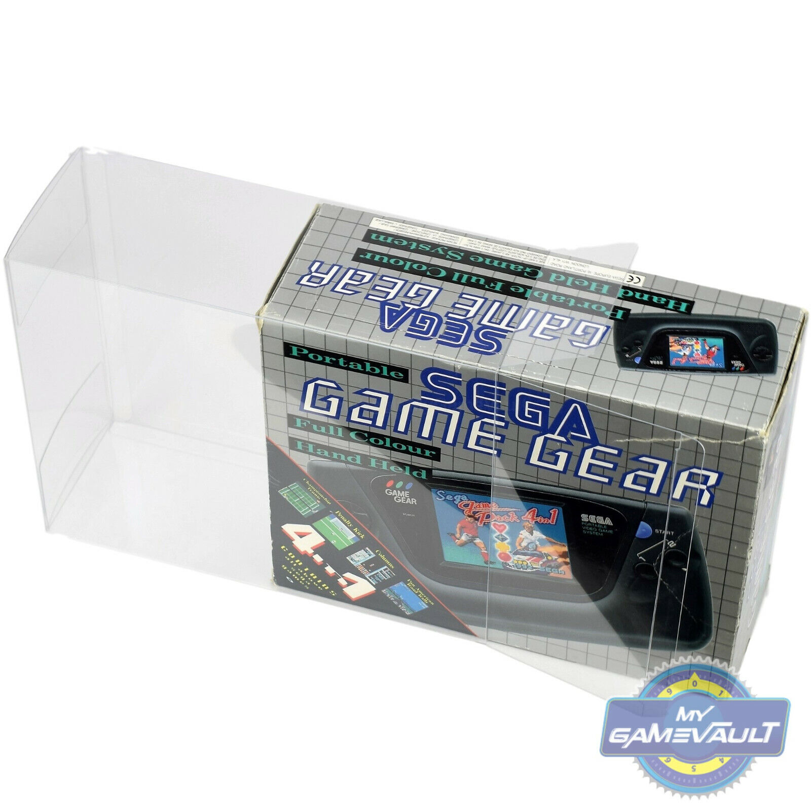 1 x BOX PROTECTOR for Sega Game Gear Console Strong 0.5mm Plastic DISPLAY CASE