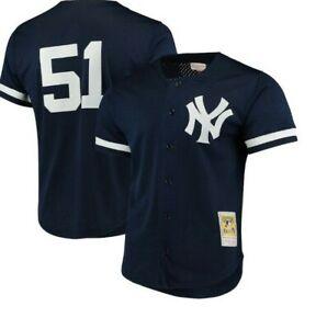 Authentic Mitchell & Ness New York Yankees #51 Baseball Jersey New Mens XL $110