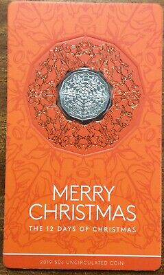 2019 RAM 50 cent UNC Coin Yellow Card Merry Christmas