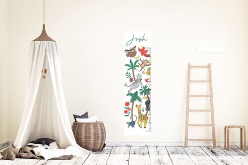 Personnalisé Jungle Hauteur Croissance Chart Wall Decal Vinyl Sticker Nursery Kids