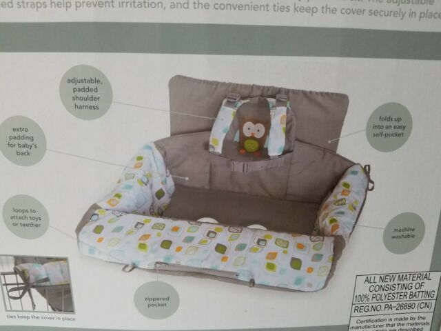 Admirable Carters 2 In 1 Shopping Cart And High Chair Cover Owl Grey Blue Green Nib Pdpeps Interior Chair Design Pdpepsorg