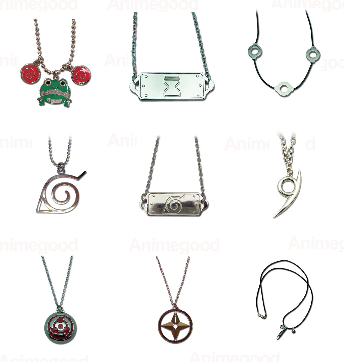 Fashion Anime NARUTO Gaara AI Letter LOVE Metal Pendant Necklace cosplay gift AA