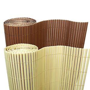 5 M Bambus Pvc Sichtschutzmatte Sichtschutz Zaun Balkon Garten