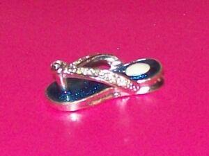 925-Sterling-Silver-Beach-Sandal-3D-Flip-Flop-Charm-Pendant-Blue-Lavender-Stone